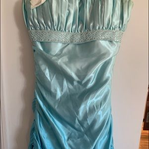 OMBRÉ TURQUOISE PROM DRESS